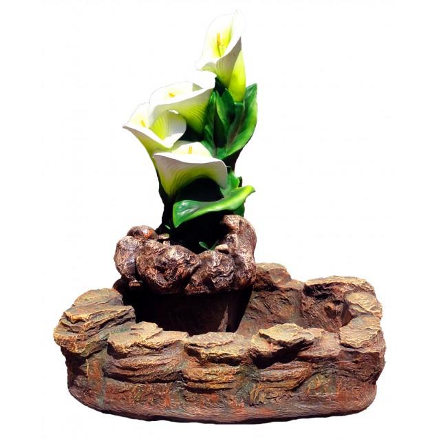 Фонтан «Каскад Цветок», бассейн под камень, новый
