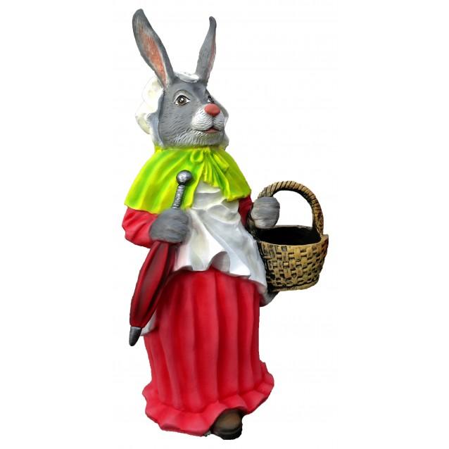 Кашпо «Крольчиха с зонтом»