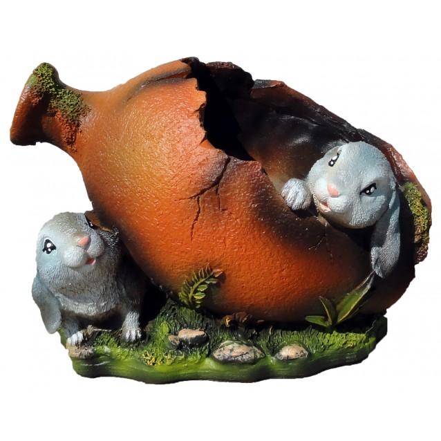 Кашпо «Амфора с зайцами»