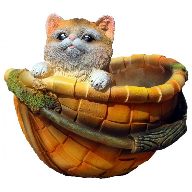Кашпо «Корзинка с котёнком»