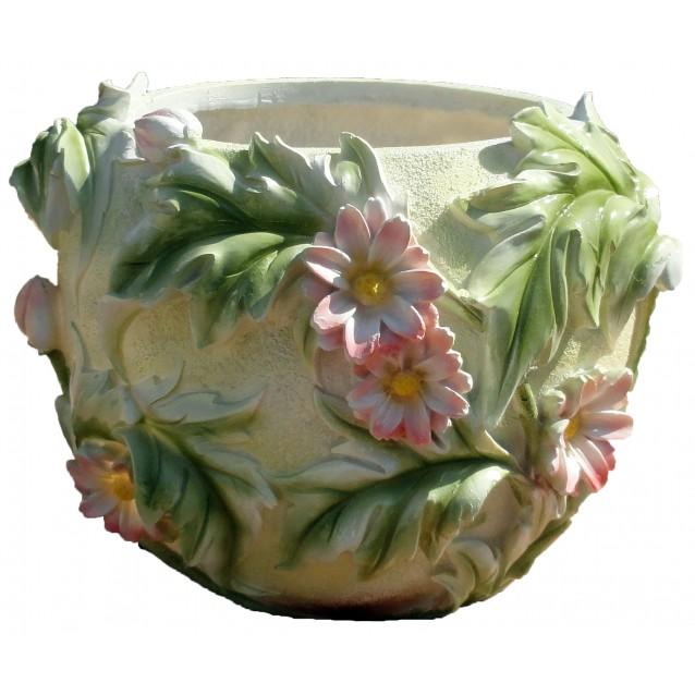 Кашпо «C цветами» круглое