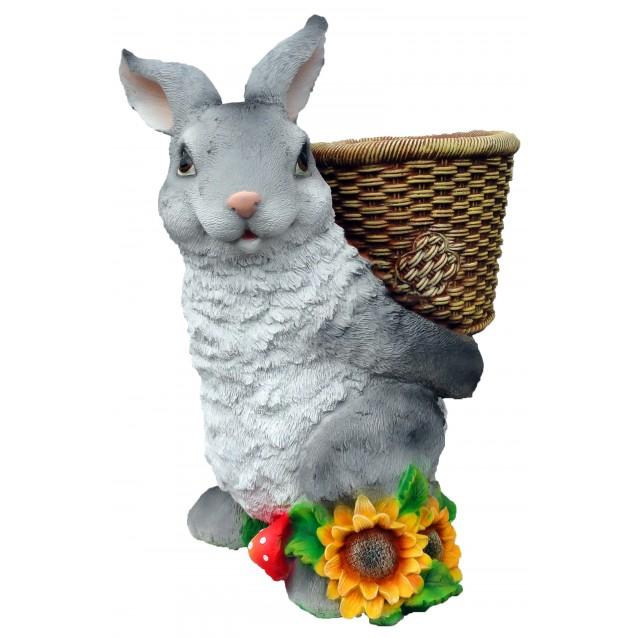 Кашпо «Заяц с корзиной»