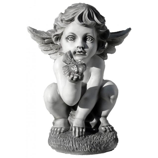 Скульптура «Ангел с голубкой» малый