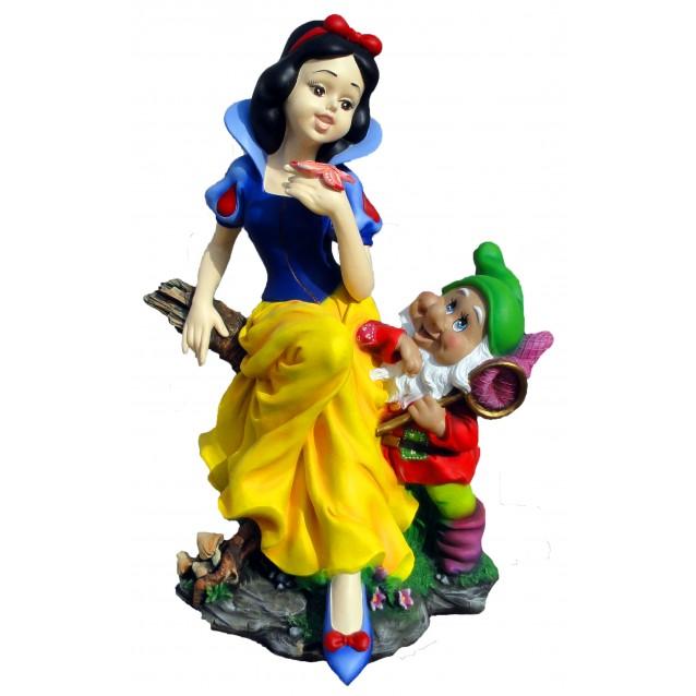 Скульптура «Белоснежка сидя с гномом»