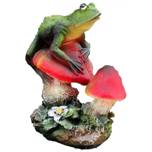 Скульптура «Лягушка на грибочке»