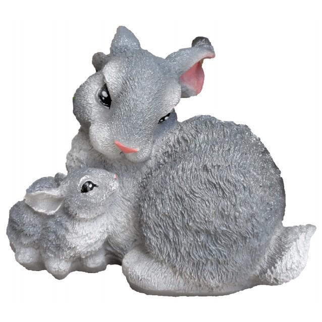 Скульптура «Зайчиха с зайчонком»