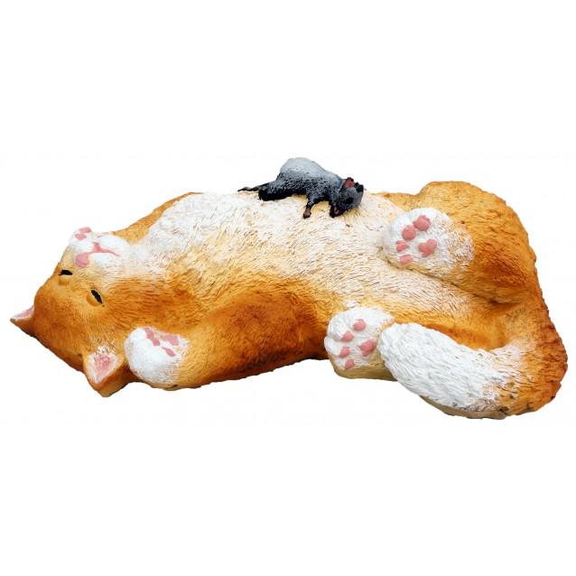Скульптура «Кот с мышкой»