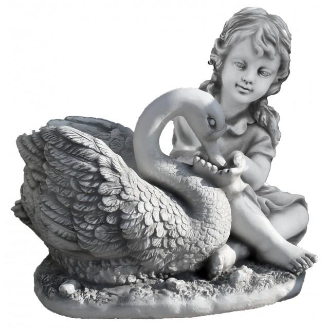 Ваза «Девочка с лебедем», Антик